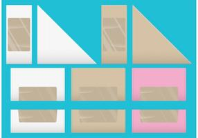 Sandwich And Dessert Vector Boxes