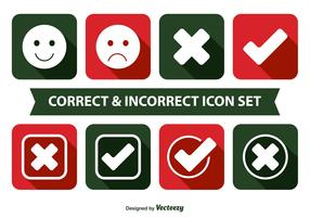 Correct and Incorrect Icon Set