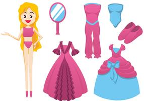 Barbie Doll Vector Elements