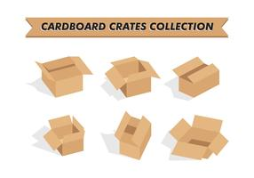 Cardboard Crates Collection Vector Free