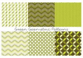 Green Geometric Patterns