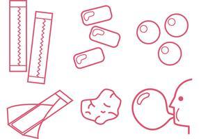 Bubblegum Outline Vectors
