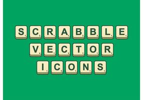 Scrabble Outlined Vector Icons