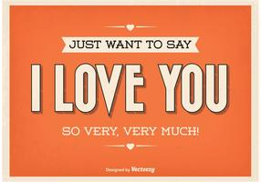 Vintage Typographic Love Poster