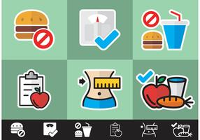 Diet Minimal Icons Vector Free