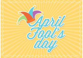 Free Vector April Fools Day Card