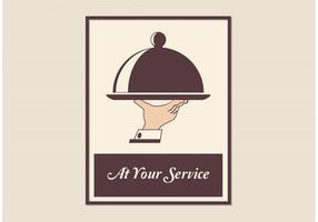Free Retro Butler Service Vector Poster