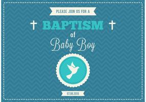 Free Baby Boy Baptism Vector Invitation