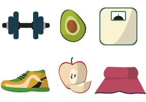 Diet Themed Vector Set