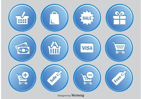 Shopping Button Icon Set