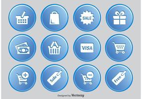 Shopping Button Icon Set