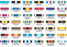 US Navy Ribbon Vectors