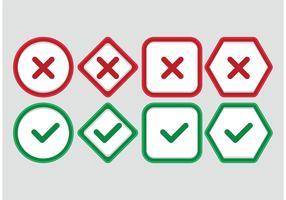 Correct Incorrect Vector Symbols