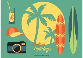 Tropical Beach Summer Icons