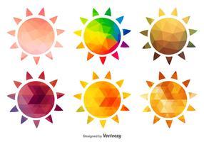 Ícones polares de sol quente