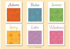 Seasons of the year decorative cards
