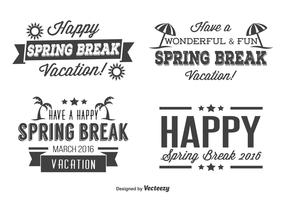 Spring Break Label Set