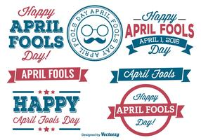 April Fools Day Label Set