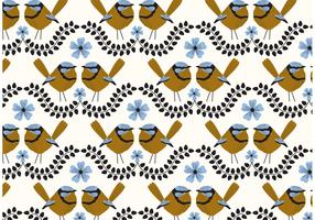 Blue Wren Repeat Pattern
