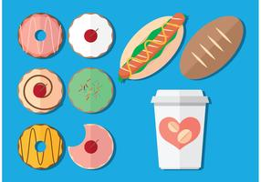 Coffee and Donut Vectors