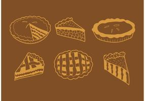 Hand Drawn Apple Pie Vectors