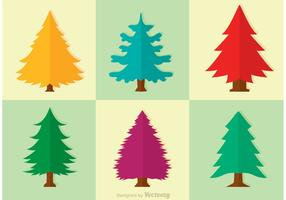 Cedar Trees Vector Set