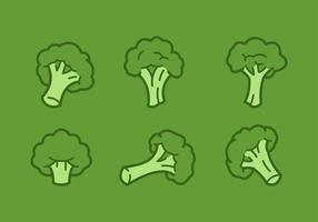 Outlined Broccoli Vector Illustrations