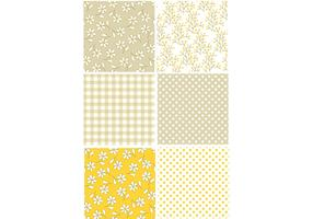 Yellow Retro Pattern Set