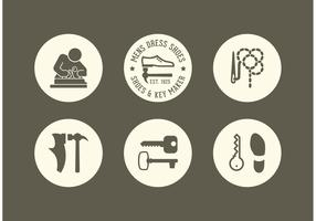 Free Shoe And Key Maker Vector Icons