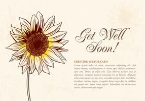 Free Drawn Sunflower Vector Illustration