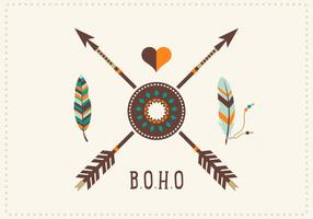 Free Boho Feathers With Arrows Vector Art