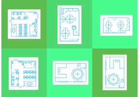 Office Floor Plan Vectors