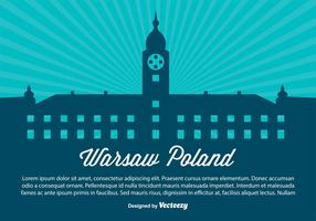 Warsaw Poland Silhouette Illustration