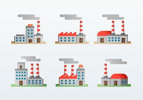 Factory Corporation Flat Icons Style
