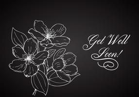 Free Flower Get Well Soon Vector Card