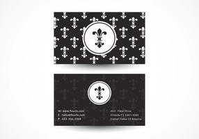 Free Fleur De Lis Vector Business Card