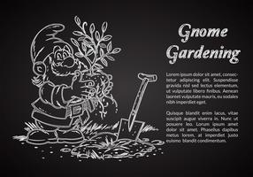 Free Chalk Drawn Gnome Vector Illustration