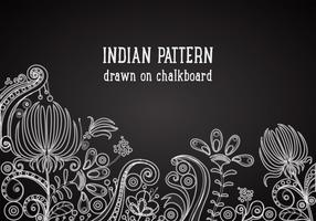 Free Indian Pattern On Blackboard Vector Background