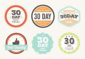 Free Trial Vector Badges