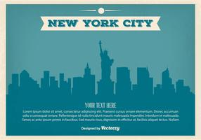 Vintage New York Skyline Illustration
