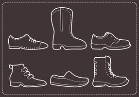 Stitched Mens Shoes Vectors