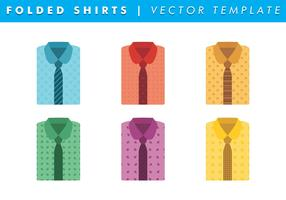 Folded Shirts With Ties Vector Free