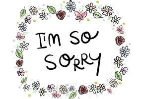 Sorry Card Watercolor Ornaments