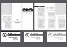 Minimal Fold Brochure Vector
