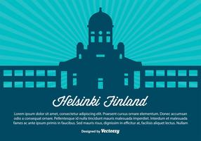 Helsinki Finland Skyline Illustration