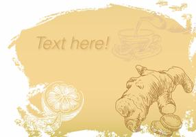 Vector Background Ginger Tea