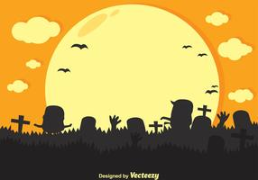 Vector Zombie Cartoon Silhouette