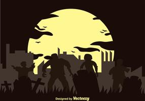 Vector Zombie Silhouette