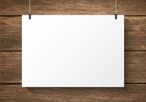 Free Paper Plate On Wooden Background Vector