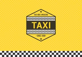 Free Taxi Label With Checkered Background